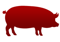 porco icon vermelho